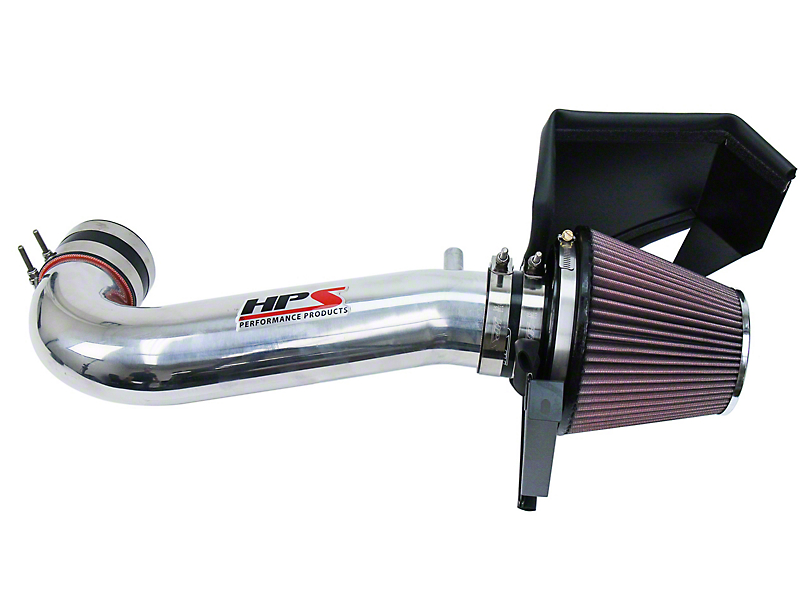 HPS Short Ram Air Cold Intake - Polished (11-19 5.7L HEMI w/o Shaker Hood)