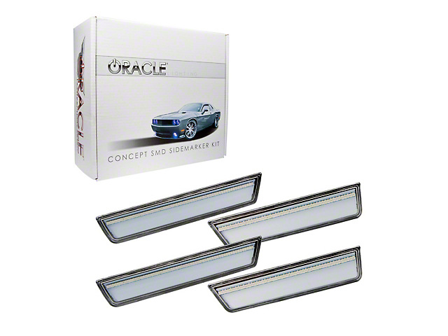 Oracle Concept LED Side Marker Kit; Clear; Unpainted (08-14 All)