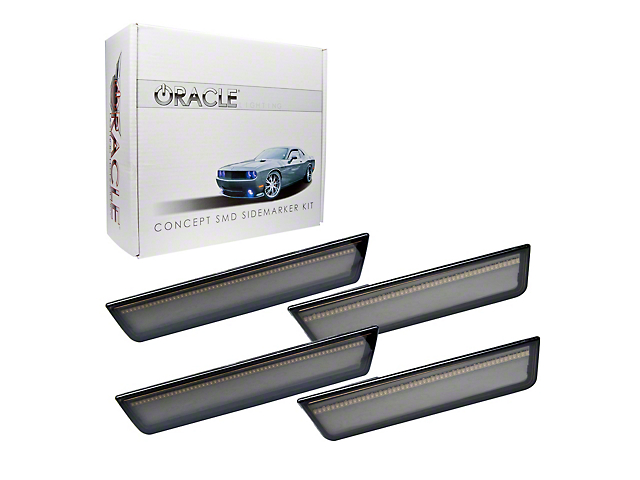 Oracle Concept LED Side Marker Kit; Tinted; Unpainted (08-14 All)