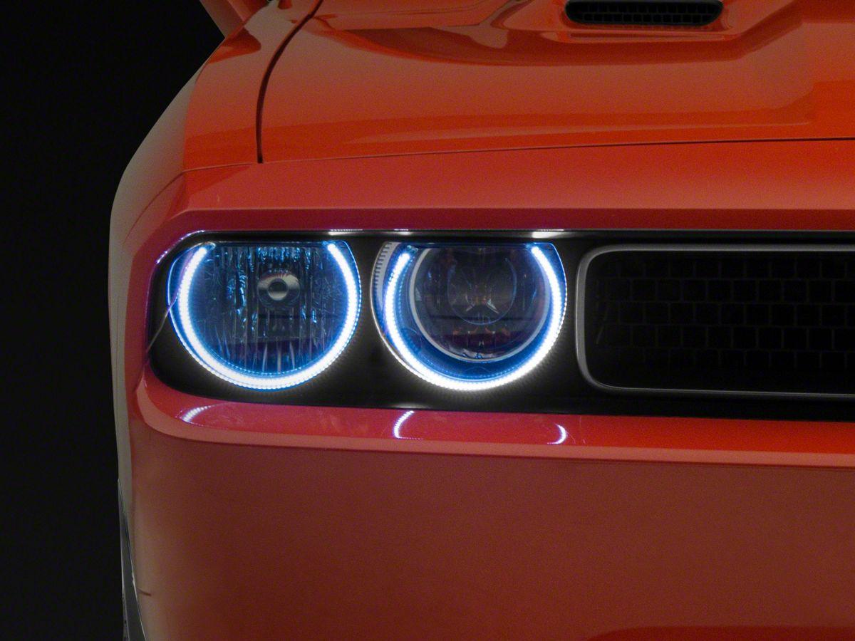 Foglight  Halo Angel Eyes Kit ORACLE Dodge Challenger 2008-2014 GREEN LED Head