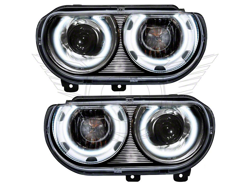 Oracle Chrome OE Style Headlights w/ CCFL Halos (08-14 w/ HID Headlights)