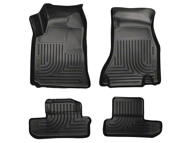 Husky WeatherBeater Front and Second Seat Floor Liners; Black (08-10 All)