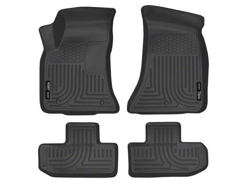 Husky WeatherBeater Front & Row Floor Liners - Black (16-20 All)