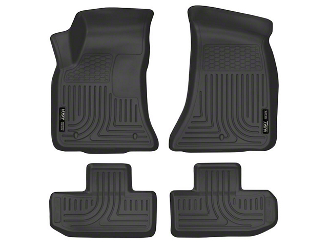 Husky WeatherBeater Front and Second Seat Floor Liners; Black (16-21 All)