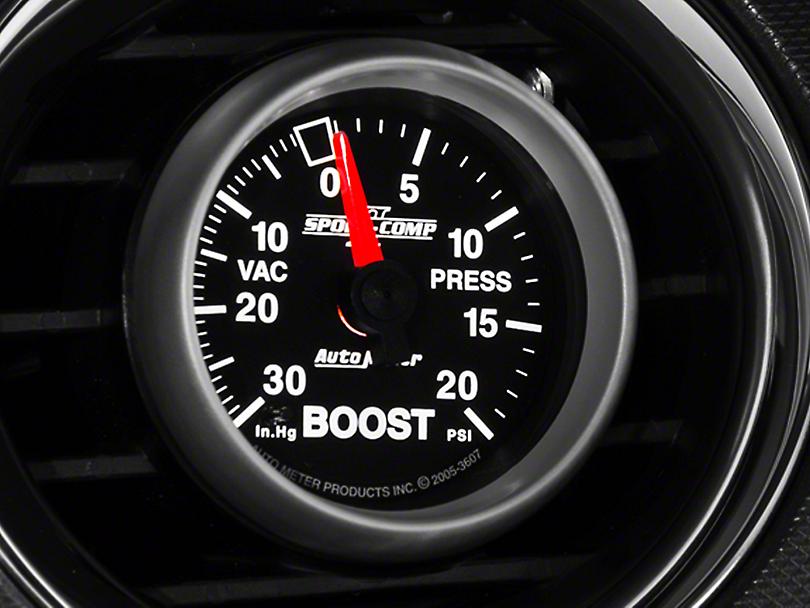 Auto Meter Sport Comp II 20 PSI Boost/Vac Gauge - Mechanical (08-19 All)