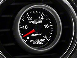 Auto Meter Sport Comp II Wideband Air/Fuel Ratio Gauge; Analog (Universal; Some Adaptation May Be Required)