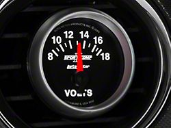Auto Meter Sport Comp II Voltmeter Gauge; Electrical (Universal; Some Adaptation May Be Required)
