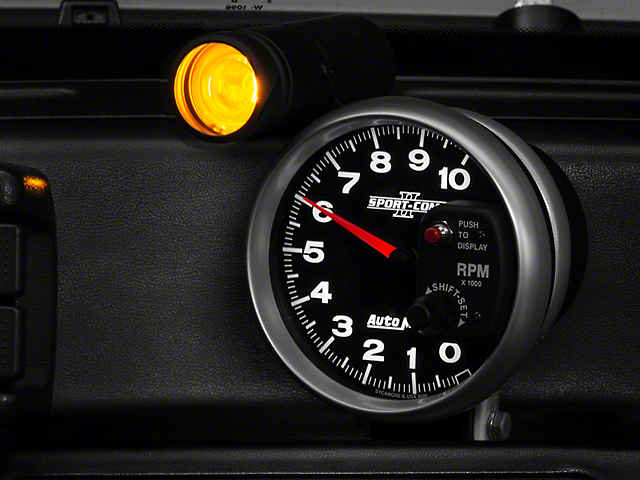 Auto Meter Sport Comp II 5 in. Tachometer w/ Shift Light (08-19 All)