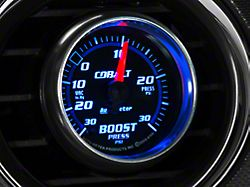Auto Meter Cobalt 30 PSI Boost/Vac Gauge; Mechanical (Universal; Some Adaptation May Be Required)