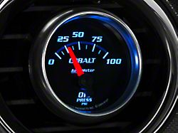 Auto Meter Cobalt Oil Pressure Gauge; Electrical (Universal; Some Adaptation May Be Required)