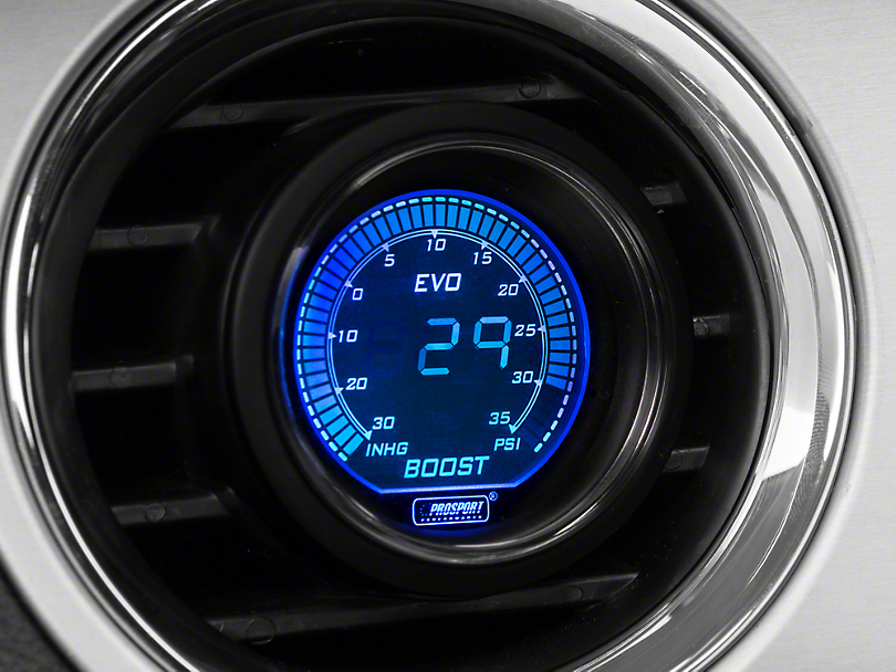 Prosport Dual Color Digital 35 PSI Boost/Vac Gauge - Electrical - Blue/Red (Universal Fitment)
