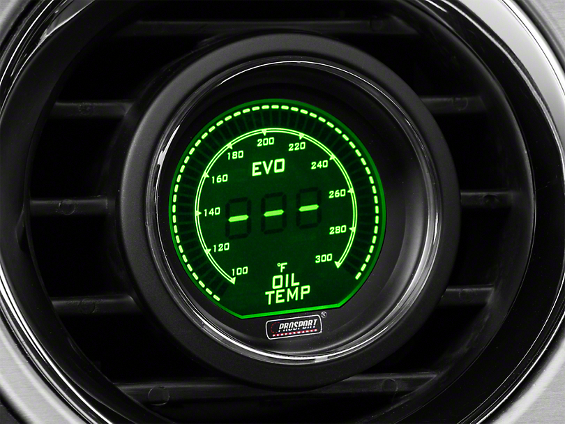 Prosport Dual Color Digital Oil Temp Gauge - Electrical - Green/White (Universal Fitment)