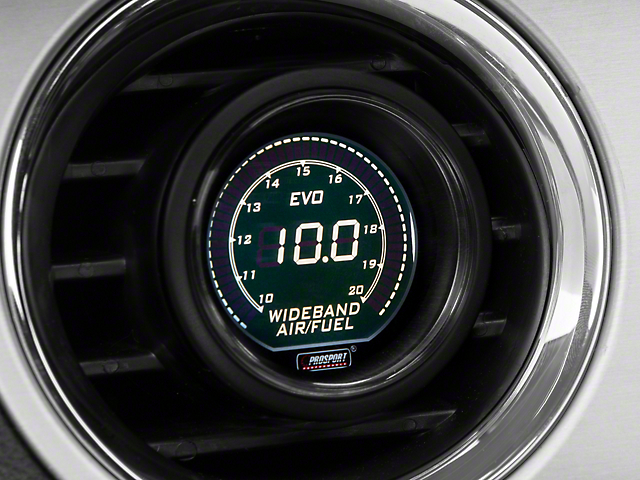 Prosport 52mm EVO Series Digital Wideband Air/Fuel Ratio Gauge; Green/White (Universal Fitment)