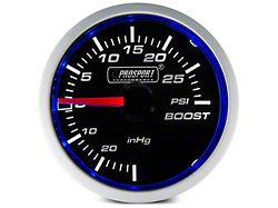 Prosport 52mm Performance Series Boost Gauge; Mechanical; 30 PSI; Blue/White (Universal; Some Adaptation May Be Required)