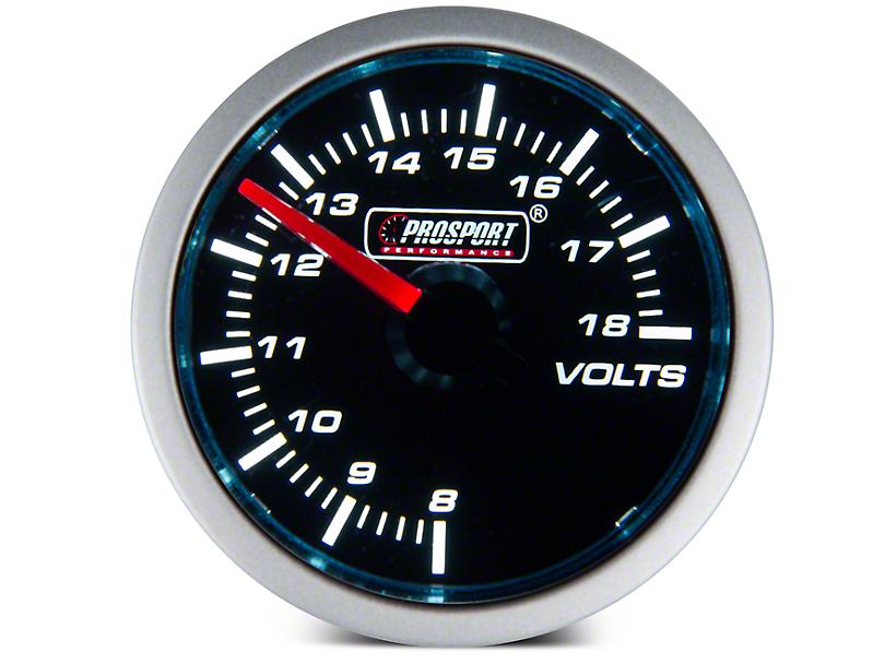 Prosport 52mm Performance Series Volt Gauge; Electrical; Blue/White (Universal Fitment)