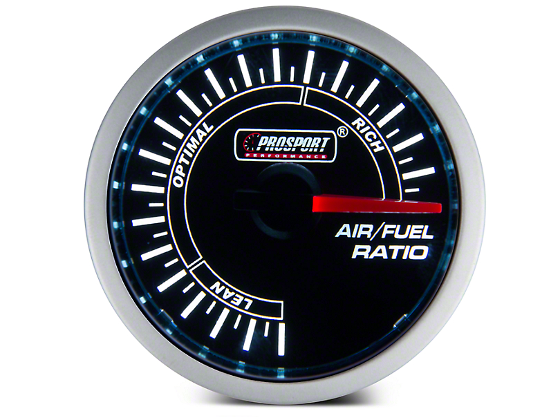 Prosport 52mm Performance Series Air/Fuel Ratio Gauge; Electrical; Blue/White (Universal Fitment)