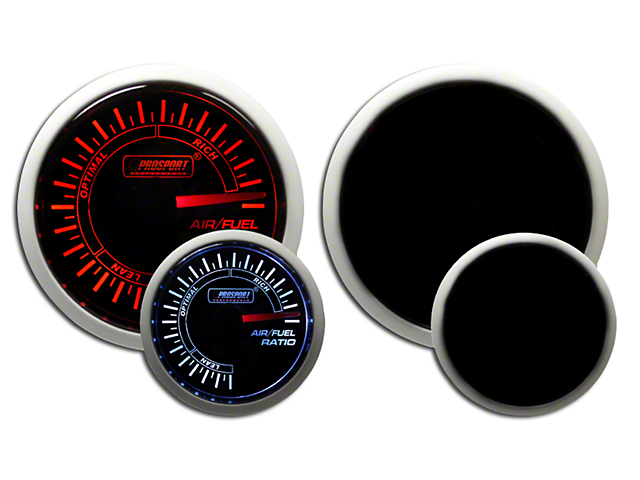 Prosport 52mm Performance Series Air/Fuel Ratio Gauge; Electrical; Amber/White (Universal Fitment)