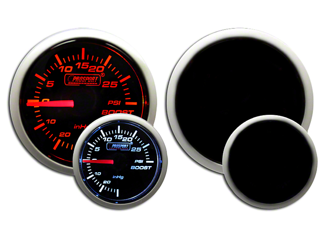 Prosport Dual Color 30 PSI Boost Gauge - Electrical - Amber/White (Universal Fitment)