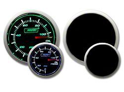 Prosport 52mm Performance Series Oil Pressure Gauge; Electrical; Green/White (Universal; Some Adaptation May Be Required)