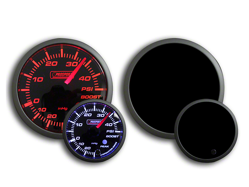 Prosport Dual Color 45 PSI Boost Gauge - Electrical - Amber/White (Universal Fitment)