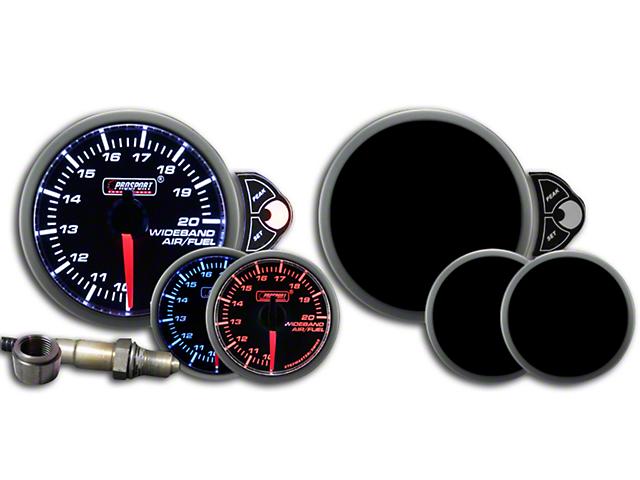 Prosport 52mm Halo Premium Series Wideband Air/Fuel Ratio Gauge; Blue/White/Amber (Universal Fitment)