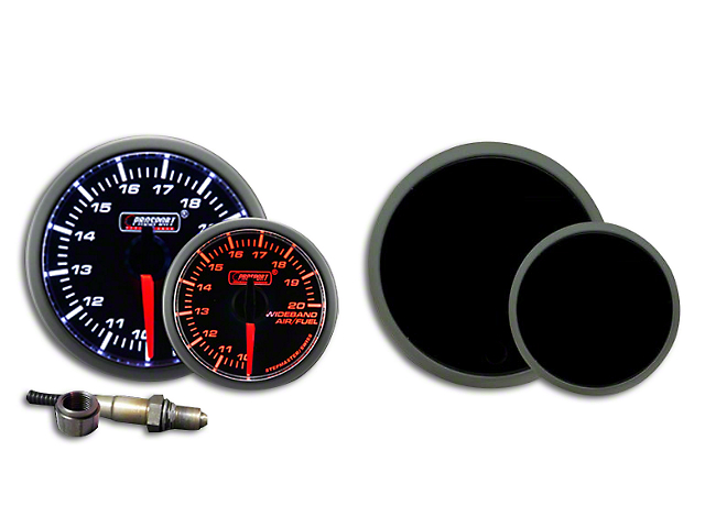 Prosport 52mm Premium Series Wideband Air/Fuel Ratio Gauge; Amber/White; Amber/White (Universal Fitment)