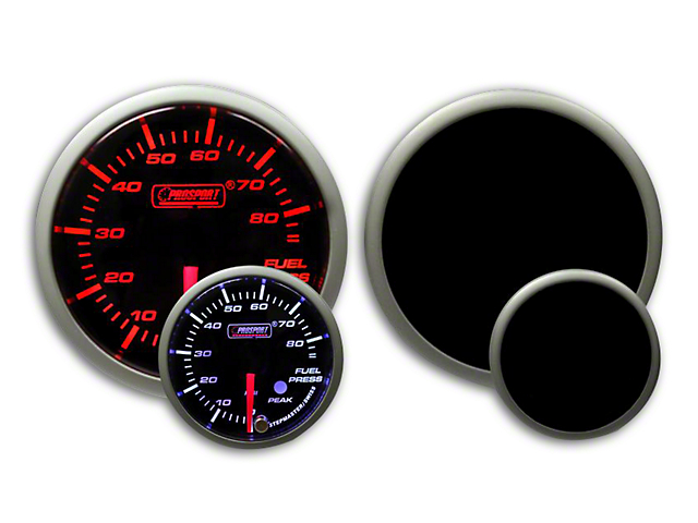 Prosport 52mm Premium Series Fuel Pressure Gauge; Electrical; Amber/White (Universal Fitment)