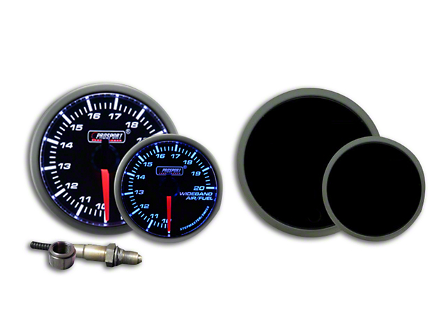 Prosport 52mm Premium Series Wideband Air/Fuel Ratio Gauge; Blue/White (Universal Fitment)