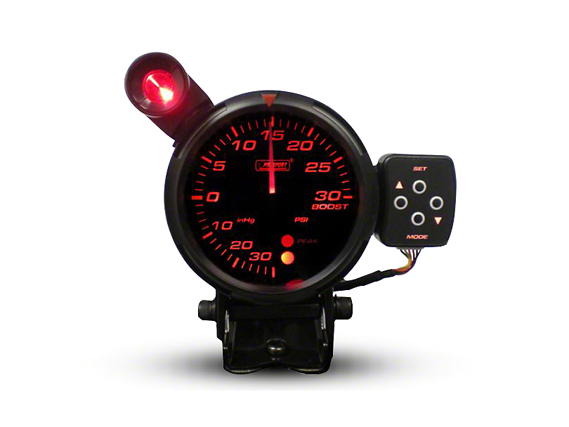 Prosport Tri-Color Display Boost Gauge - White/Blue/Amber - 80mm (Universal Fitment)