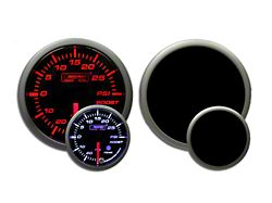 Prosport 52mm Premium Series Boost Gauge; 30 PSI; Amber/White (Universal; Some Adaptation May Be Required)