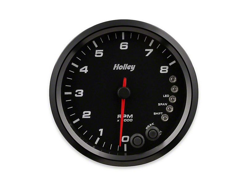 Holley Performance 4.5 in. Analog-Style 0-8K Tachometer - Black (Universal Fitment)
