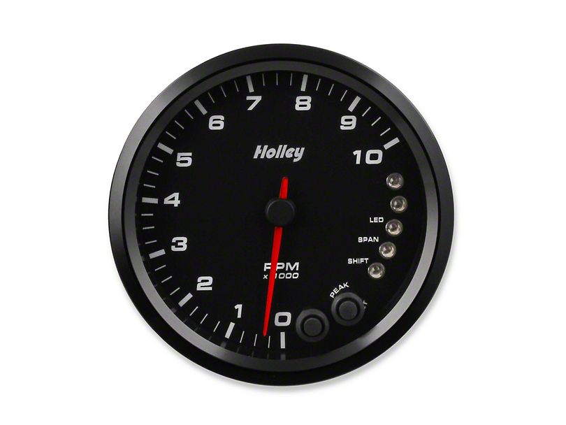 Holley Performance 4.5 in. Analog-Style 0-10K Tachometer - Black (Universal Fitment)