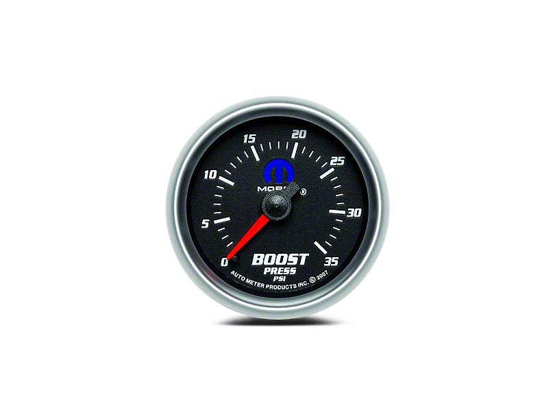 Mopar Boost Gauge - Mechanical - Black (08-19 All)
