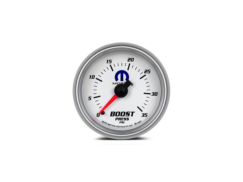 Mopar Boost Gauge - Mechanical - White (08-19 All)