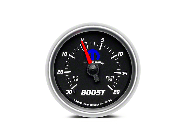 Mopar Boost/Vacuum Gauge - Mechanical - Black (08-19 All)