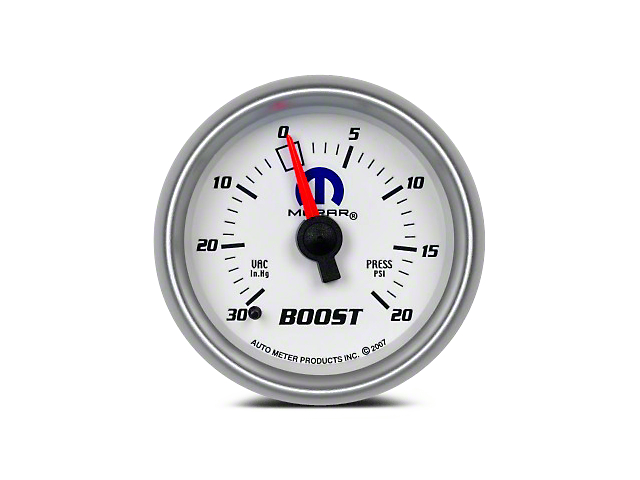 Mopar Boost/Vacuum Gauge - Mechanical - White (08-19 All)