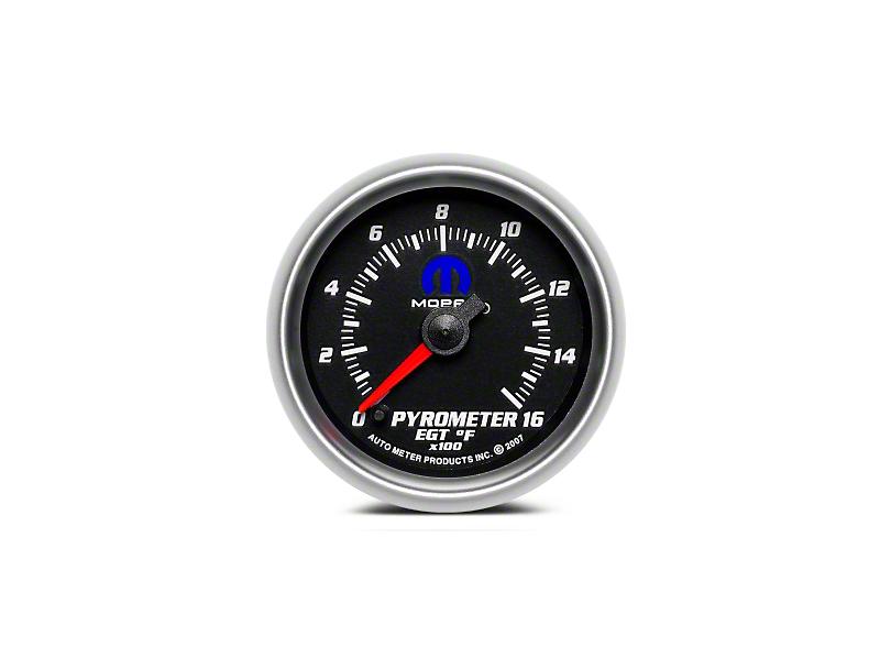 Mopar Pyrometer Gauge - Digital Stepper Motor - Black (08-19 All)