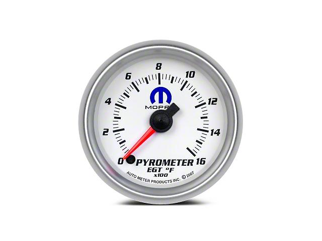 Mopar Pyrometer Gauge - Digital Stepper Motor - White (08-19 All)
