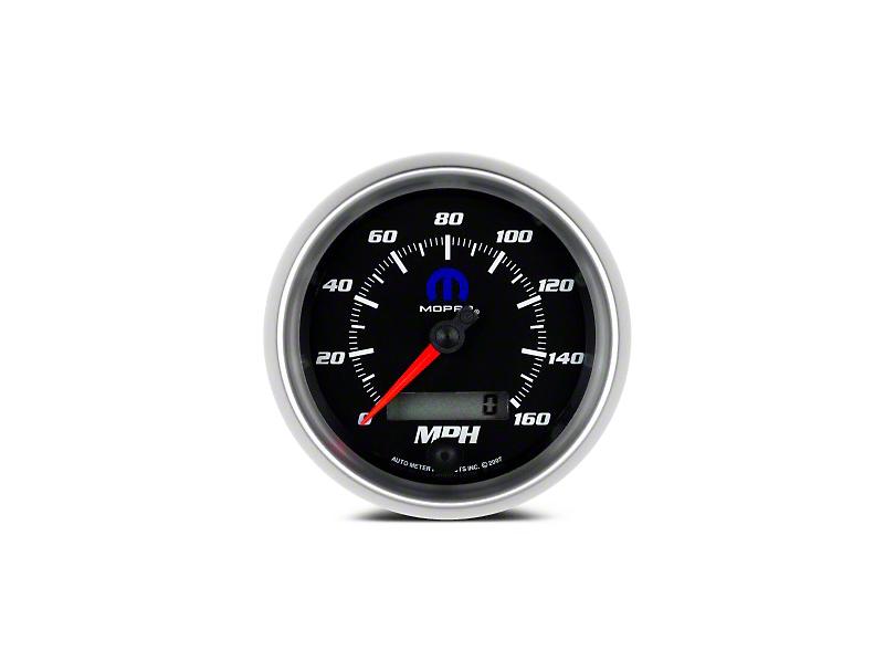 Mopar 3-3/8 in. Speedometer - Electrical - Black (08-19 All)
