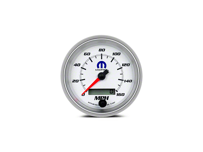 Mopar 3-3/8 in. Speedometer - Electrical - White (08-20 All)
