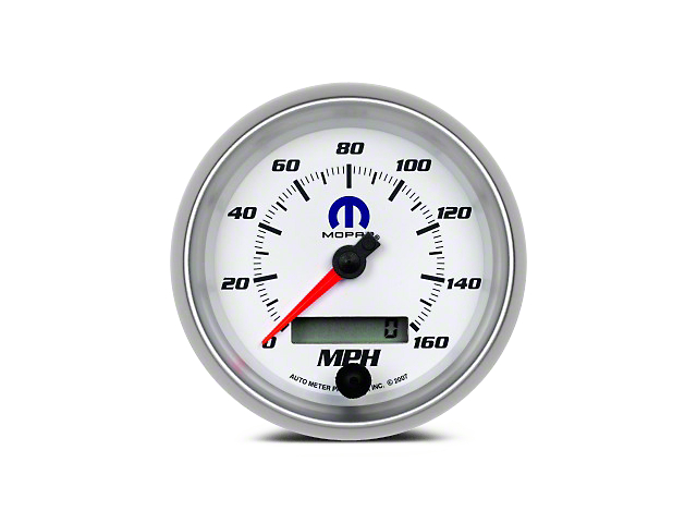 Mopar 3-3/8 in. Speedometer - Electrical - White (08-19 All)
