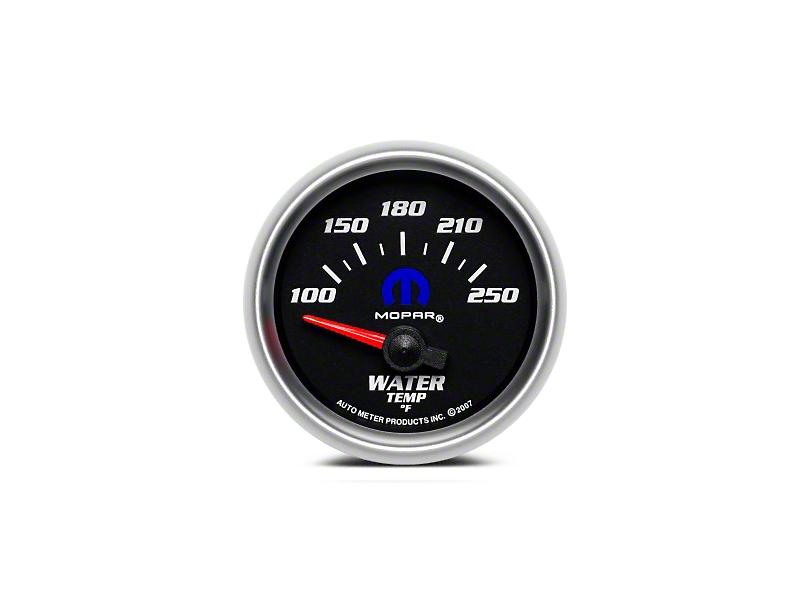 Mopar Water Temperature Gauge - Electrical - Black (08-19 All)