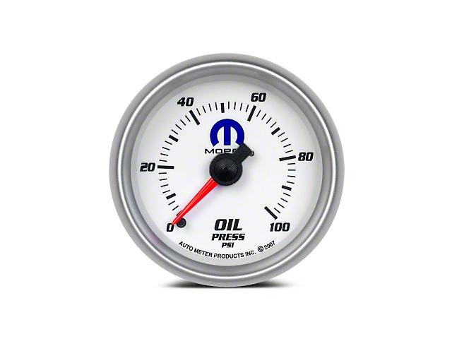 Mopar Oil Pressure Gauge - Mechanical - White (08-19 All)