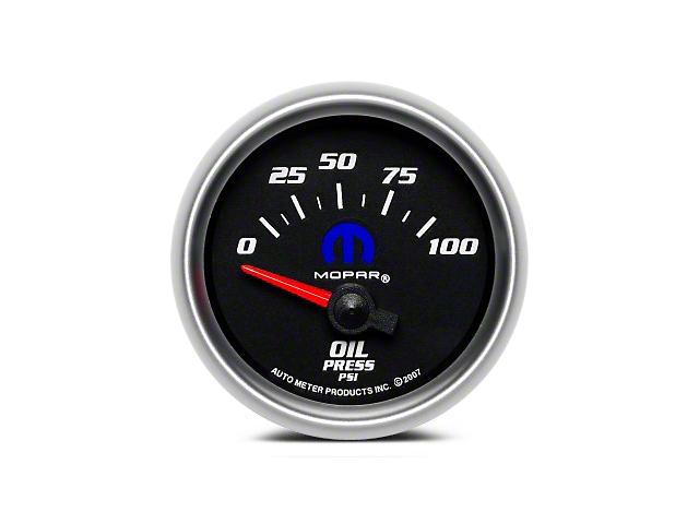 Mopar Oil Pressure Gauge - Electrical - Black (08-19 All)