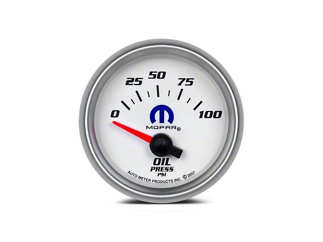 Mopar Oil Pressure Gauge - Electrical - White (08-19 All)