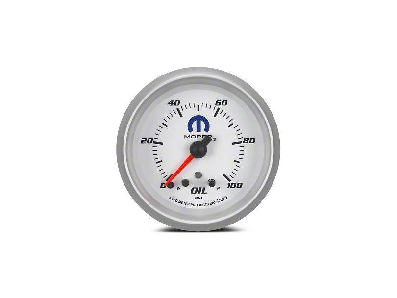 Mopar Oil Pressure Gauge - Digital Stepper Motor - White (08-19 All)