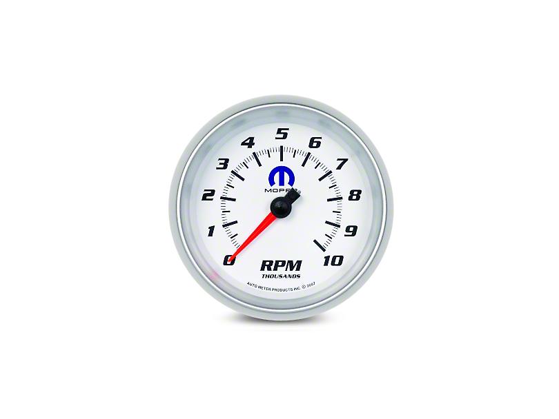 Mopar 3-3/8 in. In-Dash Tachometer - White (08-19 All)