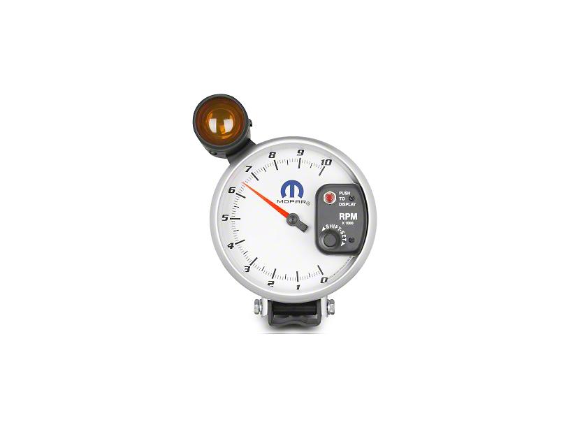 Mopar 5 in. Pedestal Tachometer w/ Shift Light - White (08-19 All)
