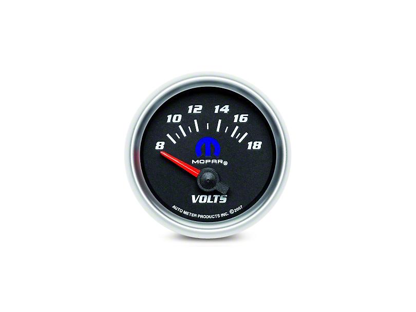 Mopar Voltmeter Gauge - Electrical - Black - White (08-19 All)