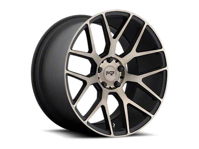 Niche Intake Black Machined Wheel; 20x9 (08-20 All, Excluding AWD)
